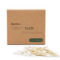 Бамбуковые ватные палочки в картонной коробке 300 шт, фото 1