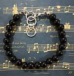 Браслет из черного Агата, натуральный камень, цвет черный, тм Satori \ Sb - 0257, фото 2