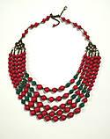 Комплект украшений Коралл Панянка, натуральный камень, цвет красный и его оттенки, тм Satori \ Sn - 0028, фото 3