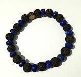 Браслет защитный Лава + Лазурит, натуральный камень, тм Satori \ Sb - 0265, фото 2