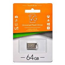 Флешка USB 2.0 64GB T&G 105 Metal Series Silver (TG105-64G)