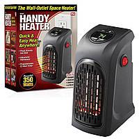 Портативный керамический тепловентилятор Handy Heater, Комнатный обогреватель в розетку f