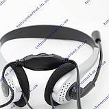 Наушники с микрофоном XTY-22. Гарнитура компьютерная. black-silver, фото 2