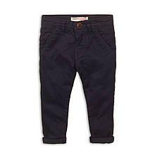 Детские брюки чинос для мальчика темно-синие 3-4 года, 98-104 см