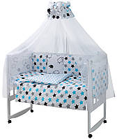 Детская постель Babyroom Classic Bortiki-01 (8 элементов) белый (барашки)