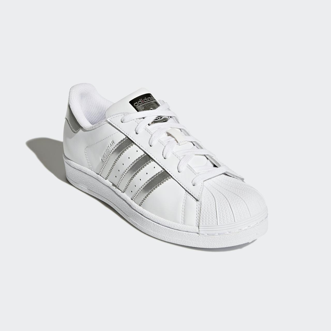 Adidas Superstar Silver Metallic AQ3091 оригінальні жіночі білі кросівки