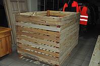 Контейнер овощной 1200х1200х1600 деревянный разборный. Контейнеры овощные деревянные в Украине, фото 1