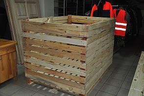 Контейнер овощной 1200х1200х1600 деревянный разборный. Контейнеры овощные деревянные в Украине