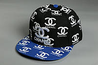 Снэпбек Chanel Черный синий козырёк