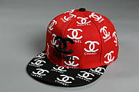 Снэпбек Chanel Красный черный козырёк