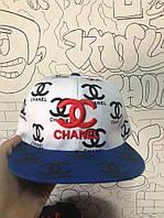 Снэпбек Chanel Белый синий козырёк