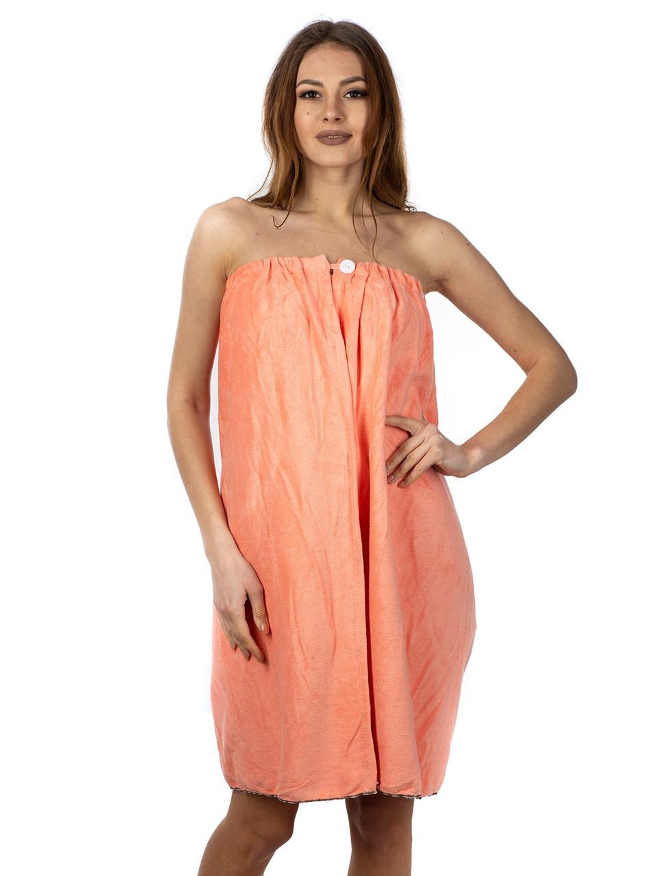 Женское микрофибровое полотенце-халат