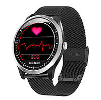 Смарт-часы N58 Smart Watch с тонометром и ЭКГ Черные (5444)