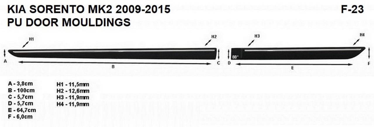 Молдинги на двері для KIA Sorento Mk2 2009-2015, фото 6