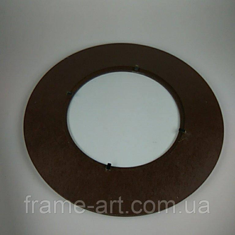 ПА-РК-001К Рамка круглая 5см под полотно окрашенная d10см коричневый
