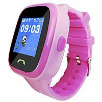 Детские часы-телефон JETIX DF25 LightStrap с GPS валогазащитой IP67 + Защитное стекло Pink (2368232)