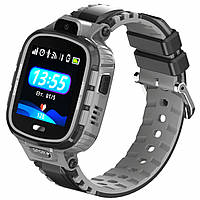 Детские водонепроницаемые часы-телефон JETIX DF45 c датчиком снятия Черные (0000012)