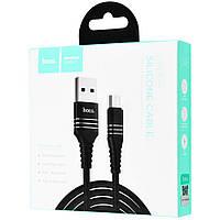 Кабель Hoco U46 Tricyclic Micro USB (1m) black
