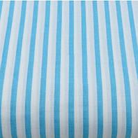 Хлопковая ткань (бязь) 160см №605а Полоска 6мм голубого (бирюзового) цвета
