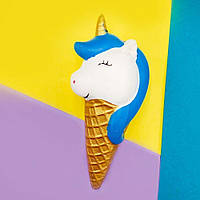 Squishy antistress Colorful Unicorn Ice Cream white_blue