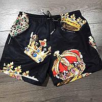 Мужские плавательные шорты Dolce&Gabbana CK870 черные