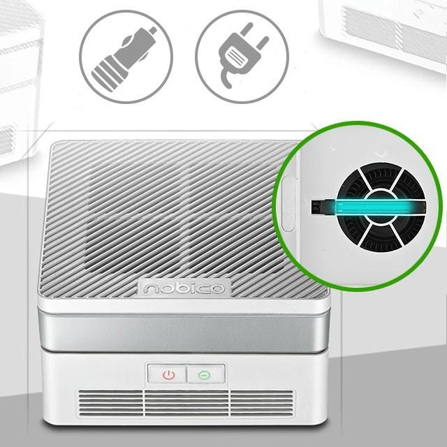 Очиститель воздуха HEPA с бактерицидной лампой для автомобиля и дома 12v/220v NOBICO