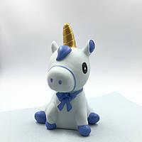 Копилка Unicorn is sitting blue