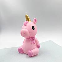 Копилка Unicorn is sitting blue pink