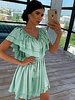 Шёлковое платье с пышной юбочкой