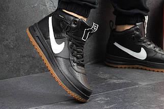 Мужские кроссовки высокие черные натуральная прессованная кожа, фото 3