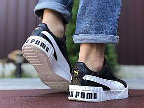 Чоловічі кросівки Puma Cali Bold,чорно білі, фото 3