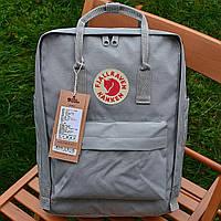 Городской рюкзак Fjallraven Kanken, портфель, школьній рюкзак, ранец, канкен серый/grey