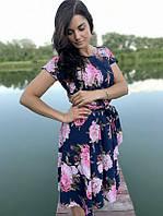 Летнее платье темно-синее Linda 187-8