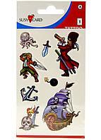 Набор наклеек Пираты, 8 шт Susy Card  Разноцветный R2-33034101, КОД: 1760843