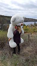 Огромный плюшевый мишка 200 см молочный