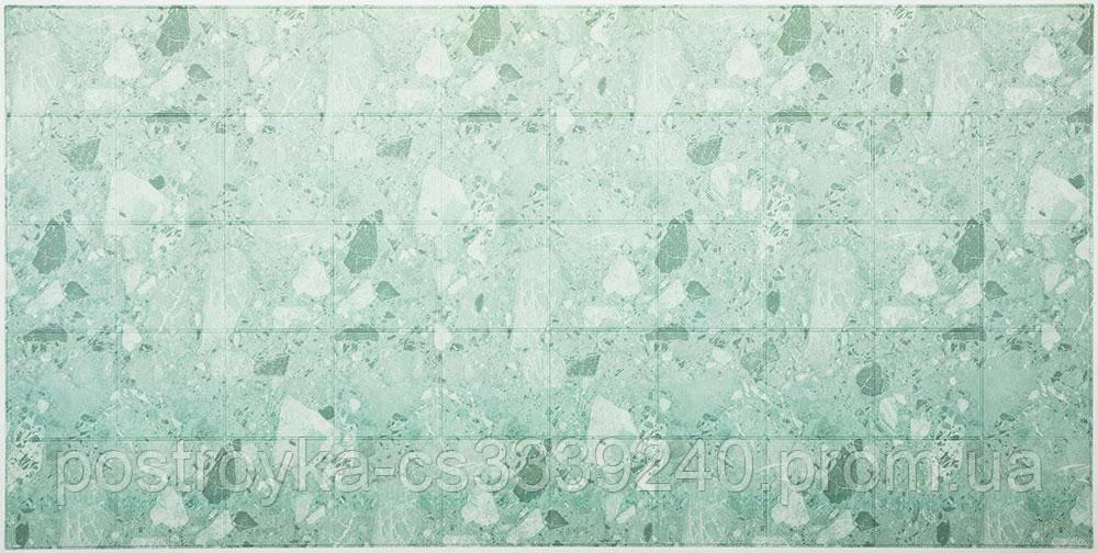 Декоративные Панели ПВХ плитка Зеленый мрамор