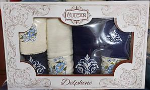 Большая подарочная коробка с махровыми турецкими полотенцами (6 шт)