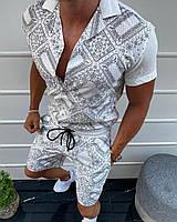 Мужской летний костюм M399 белый