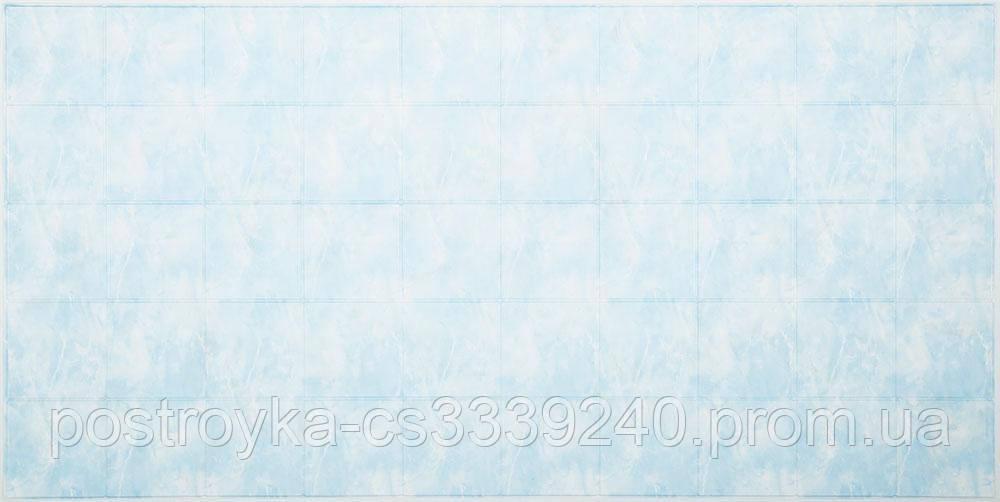 Декоративні Панелі ПВХ плитка Блакитний мармур