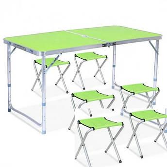 Раскладной стол для отдыха на природе с 4 стульями, фото 2
