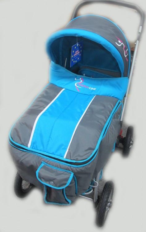 Детская прогулочная коляска Sigma H-538AF голубая