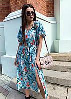 Летнее платье 2020 женское цвет:голубой размер:42-44, 46-48, 50-52