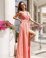 Летнее платье 2020 женское цвет:розовый размер:S, M, L, XL