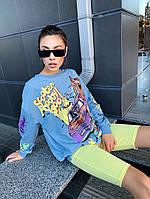 Свитшот женский модный S C O O B Y голубой 126118