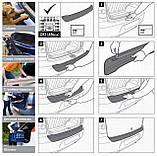 Пластикова захисна накладка на задній бампер для KIA Sorento Mk2 lift 2012-2014, фото 9