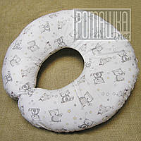Подушка для кормления кормить новорожденного младенца грудничка малыша грудного ребёнка грудью 4621 Белый