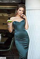 Женское облегающее вечернее платье с корсетом