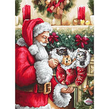 Наборы для вышивания крестом Luca S Дед мороз Праздник Новый год