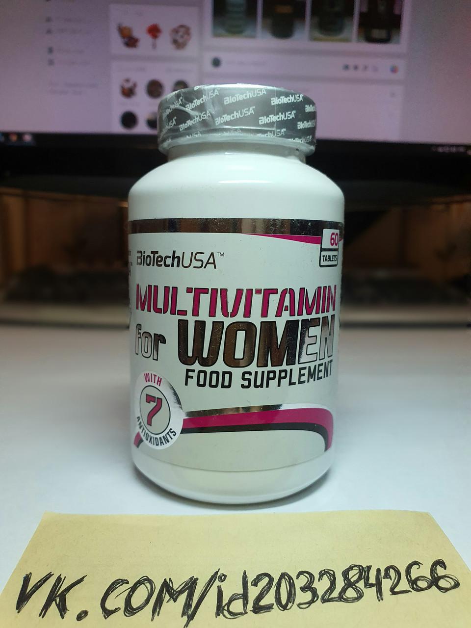 Витамины для женщин BioTech Multivitamin for Women 60 таб