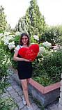 Меховая подушечка сердце 35*35 с надписью Мое солнышко, фото 2